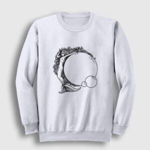 Deniz Kızı Sweatshirt beyaz