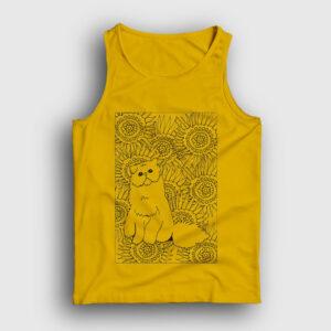 Desenli Kedi Atlet sarı