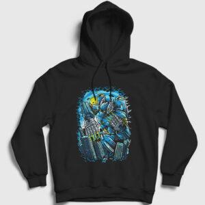Destroy The City Kapşonlu Sweatshirt siyah