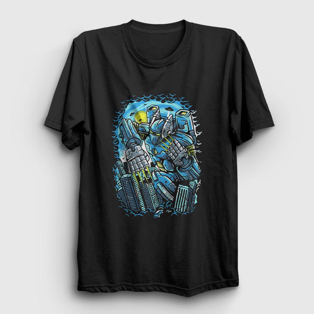 destroy the city tişört siyah