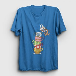 Devilen Fincanlar Tişört açık mavi