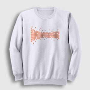 Dijital Kareler Sweatshirt beyaz