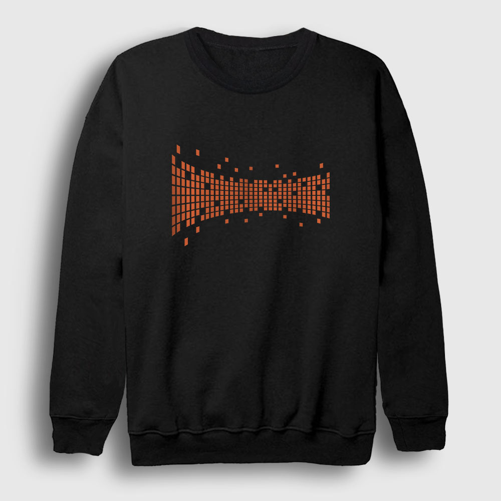 Dijital Kareler Sweatshirt siyah