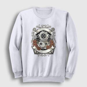Diver Sweatshirt beyaz