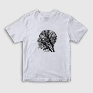 Doğayı Düşünen İnsan Çocuk Tişört beyaz