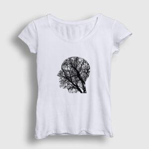 Doğayı Düşünen İnsan Kadın Tişört beyaz