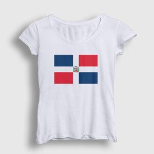 Dominik Cumhuriyeti Kadın Tişört beyaz