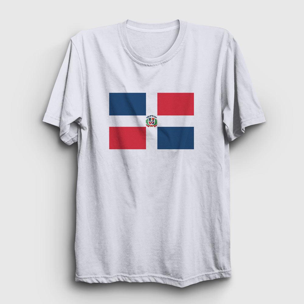 dominik cumhuriyeti tişört beyaz