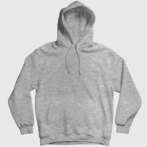 Düz Gri Kırçıllı Kapşonlu Sweatshirt gri kırçıllı