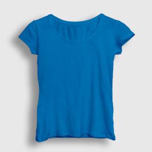 Düz Açık Mavi Kadın Tişört
