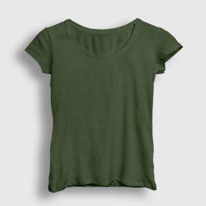Düz Haki Kadın Tişört