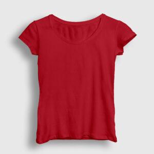 Düz Kırmızı Kadın Tişört