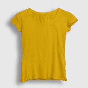 Düz Sarı Kadın Tişört