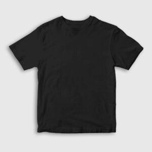 Düz Siyah Çocuk Tişört