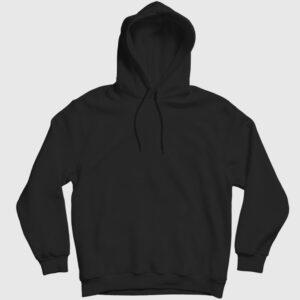 Düz Siyah Kapşonlu Sweatshirt siyah