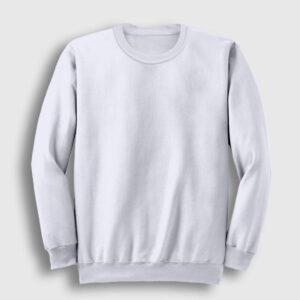 düz beyaz sweatshirt