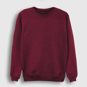 düz bordo sweatshirt