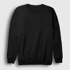düz siyah sweatshirt