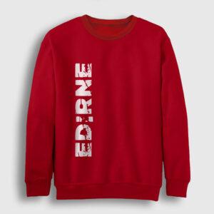 Edirne Sweatshirt kırmızı