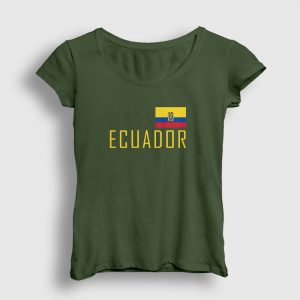 Ekvador Kadın Tişört haki