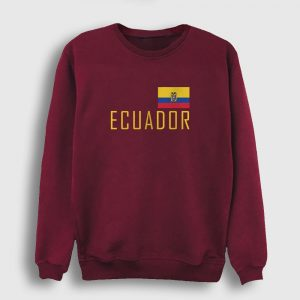 Ekvador Sweatshirt bordo
