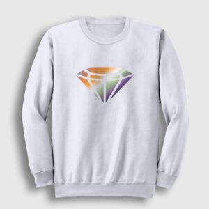 Elmas Sweatshirt beyaz