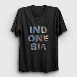 Endonezya Tişört siyah