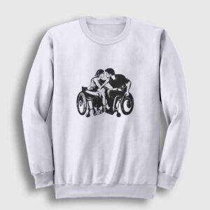 Engelsiz Aşk Sweatshirt beyaz