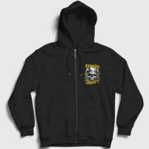 Espanol for Mexico Fermuarlı Kapşonlu Sweatshirt siyah