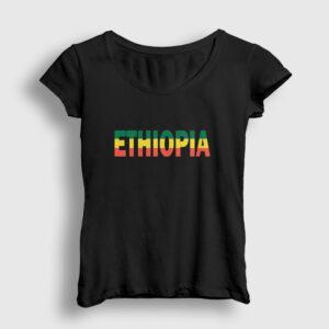 Etiyopya Kadın Tişört siyah