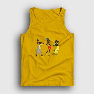 Etnik Afrikalı Kadınlar Atlet sarı