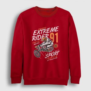 Extreme Ride Sweatshirt kırmızı