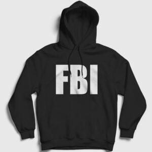 FBI Kapşonlu Sweatshirt siyah