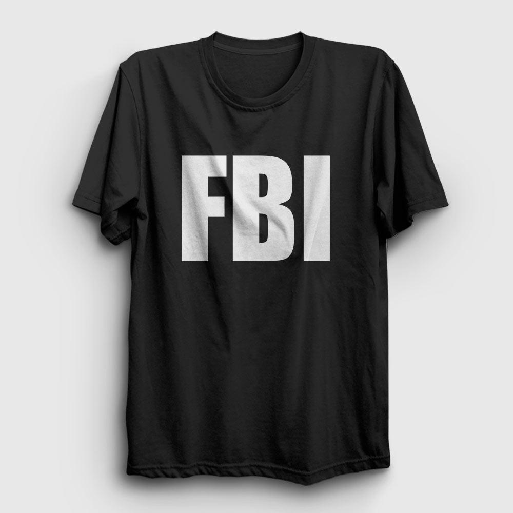 fbi tişört siyah