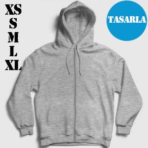Fermuarlı Kapşonlu Sweatshirt Tasarla (XS-S-M-L-XL)