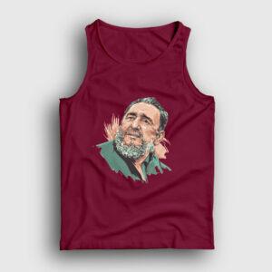 Fidel Castro Çizim Atlet bordo