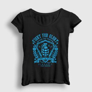 Fight For Glory Kadın Tişört siyah