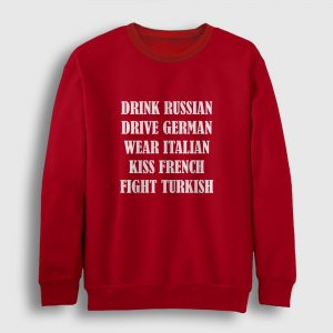 Fight Turkish Sweatshirt kırmızı