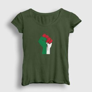 Filistin Kadın Tişört haki