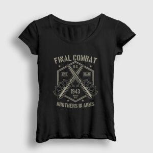 Final Combat Kadın Tişört siyah