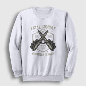 Final Combat Sweatshirt beyaz