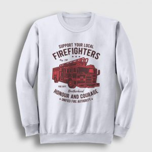 Firefighters Truck Sweatshirt beyaz
