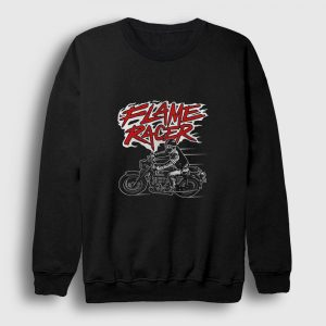Flame Racer Sweatshirt siyah