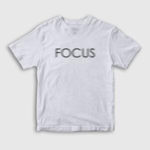 Focus Çocuk Tişört beyaz