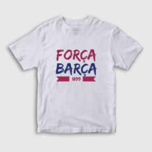 Força Barça Çocuk Tişört beyaz