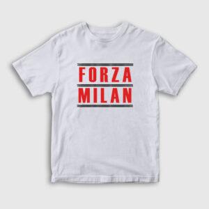 Forza Milan Çocuk Tişört beyaz