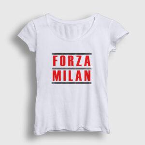 Forza Milan Kadın Tişört beyaz