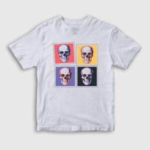 Four Skulls Çocuk Tişört beyaz