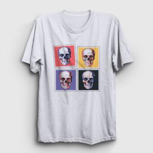 Four Skulls Tişört beyaz