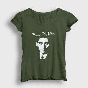 Franz Kafka Kadın Tişört haki